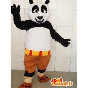 KungFu Panda μασκότ - διάσημο panda κοστούμι με αξεσουάρ