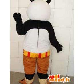 カンフーパンダマスコット - アクセサリーで有名なパンダの衣装 - MASFR0099 - Mascotte de pandas