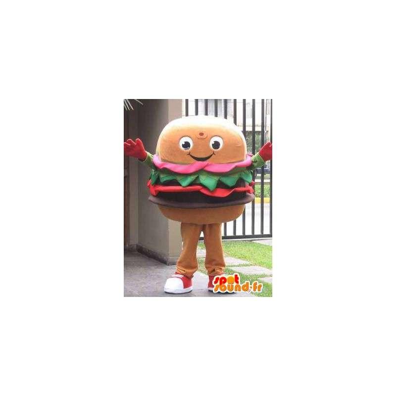 Maskot Hamburger - Restaurace a občerstvení - druhý model - MASFR00594 - Fast Food Maskoti