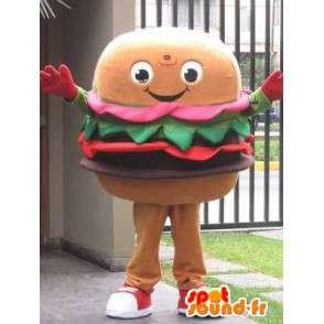Mascot Hamburger - Restauranter og fast food - Second modell - MASFR00594 - Fast Food Maskoter
