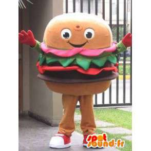 Mascotte Hamburger - Restaurants ou fast food - Second modèle - MASFR00594 - Mascottes Fast-Food