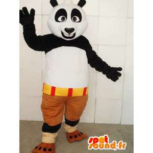 Kungfu Panda Mascot - kuuluisa panda puku lisävarusteilla - MASFR0099 - Mascotte de pandas