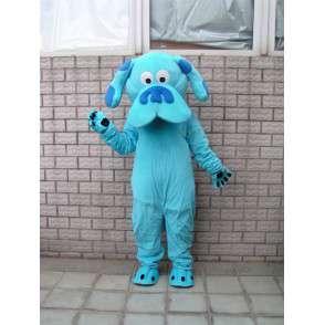 Classic mascotte blu cane - animale peluche per la sera - MASFR00283 - Mascotte cane