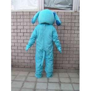 Blauer Hund Maskottchen classic - Tier-Plüsch für den Abend - MASFR00283 - Hund-Maskottchen