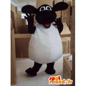 黒と白の羊のマスコット - プロモーションに最適