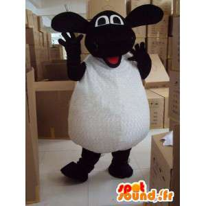 Mascot pecora in bianco e nero - Ideale per le promozioni
