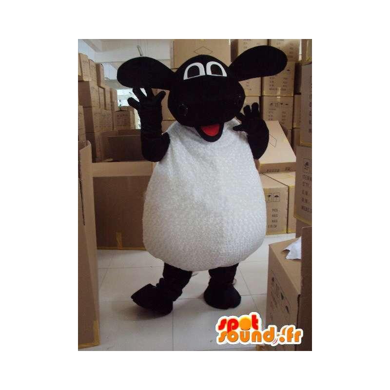 Mascotte de mouton noir et blanc - Idéal pour promotions - MASFR00596 - Mascottes Mouton