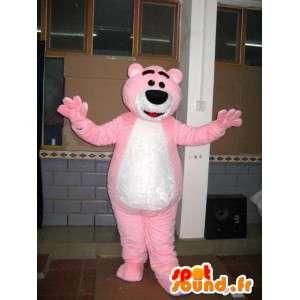 Μασκότ φως ροζ αρκούδα - Teddy Bear - Κοστούμια των ζώων