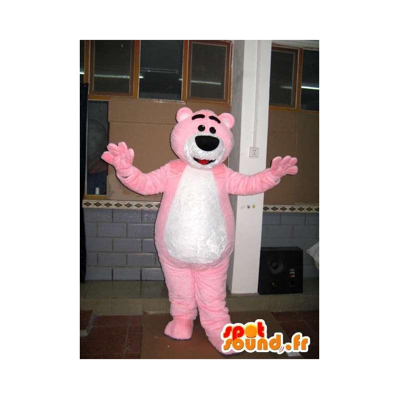 Mascot lys rosa bjørn - Teddybjørn - Animal Costume - MASFR00598 - bjørn Mascot