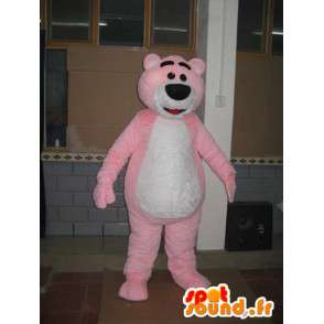 Mascotte ours rose clair - Peluche ourson - Costume animal - MASFR00598 - Mascotte d'ours