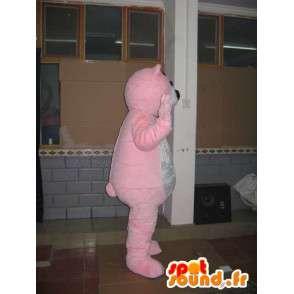 Rosa Bär Maskottchen klar - Plüsch-Bär - Tierkostüm - MASFR00598 - Bär Maskottchen