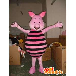 Piggy mascot - Pig Pink and Black - Friend of Winnie the Pooh