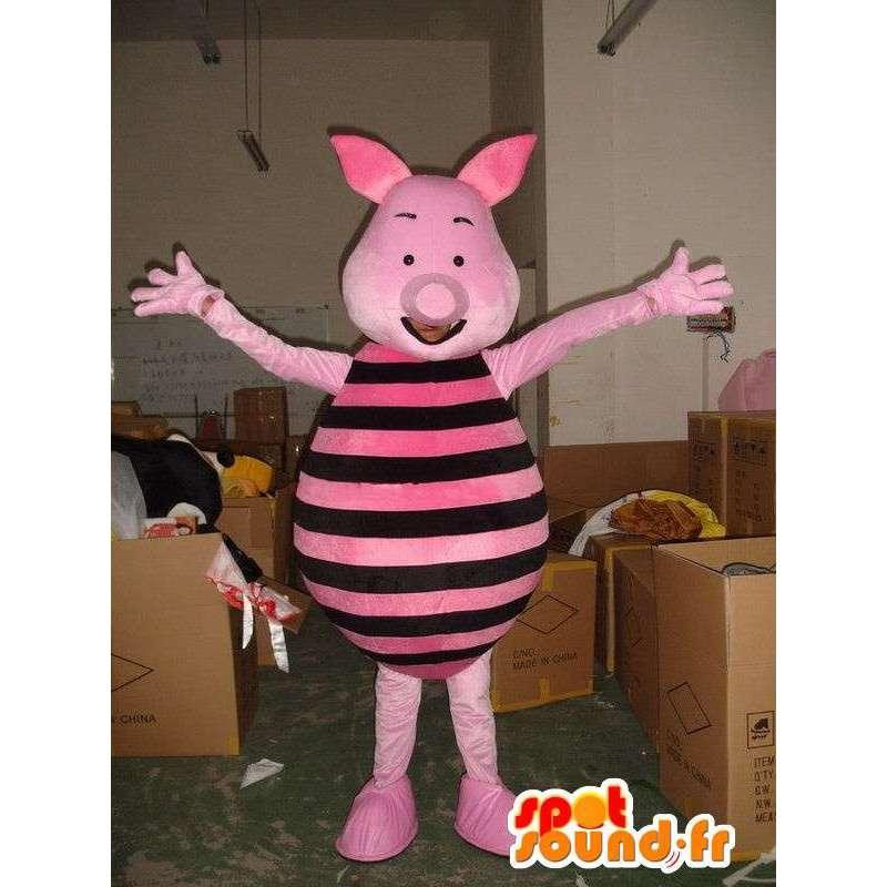Μασκότ χοιριδίων - Γουρούνι ροζ και μαύρο - φίλος του Winnie the Pooh - MASFR00599 - μασκότ Pooh