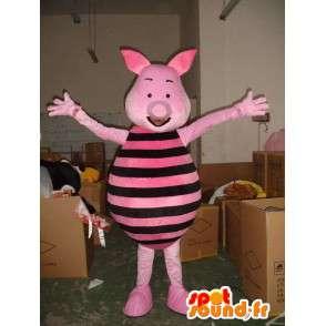 Piggy mascot - Pig Pink and Black - Friend of Winnie the Pooh - MASFR00599 - Mascots Winnie the Pooh