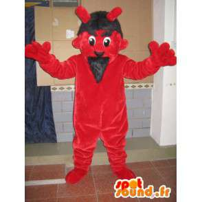 Red and black devil mascot - Monster Costume for Christmas - MASFR00601 - Monsters mascots