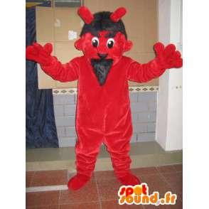 Rote und schwarze Teufel Maskottchen - Monster-Kostüm für Partys - MASFR00601 - Monster-Maskottchen