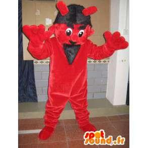 Mascot rode en zwarte duivel - Monster kostuum voor festivals - MASFR00601 - mascottes monsters