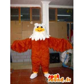 Eagle mascotte terwijl veer bruin, geel en wit - Bird - MASFR00604 - Mascot vogels