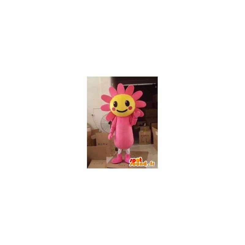 マスコットピンクの花木製日 - ヒマワリ植物コスチューム - MASFR00605 - マスコットの植物
