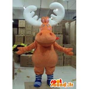 Mascot cervi, caribu, legno renne - Animal costume trapano