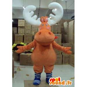 Mascotte de cerf, caribou, renne des bois – Costume animal foret