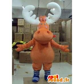 Mascot cervi, caribu, legno renne - Animal costume trapano - MASFR00606 - Addio al nubilato di mascotte e DOE