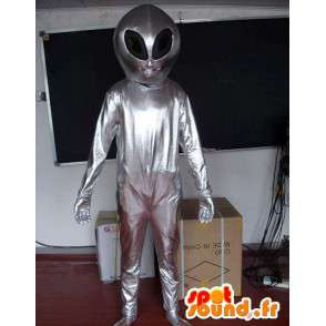 Silver Mascot Alien - Traje extraterrestre - Space - MASFR00607 - Mascotas animales desaparecidas
