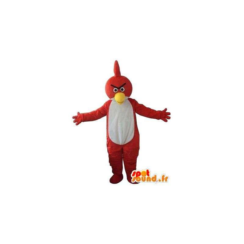 Mascotte Angry Birds - Oiseau rouge et blanc - Style aigle jeu - MASFR00608 - Mascotte d'oiseaux