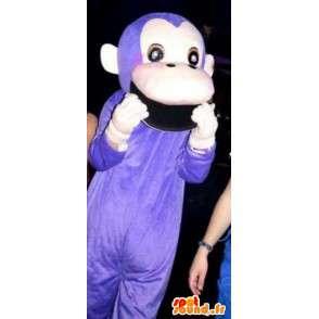 Μασκότ κλασικό μωβ μαϊμού - μαϊμού κοστούμι ζούγκλα των ζώων - MASFR00305 - Πίθηκος Μασκότ