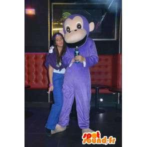 Maskotti Classic violetti apina - Monkey Jungle eläin puku - MASFR00305 - monkey Maskotteja