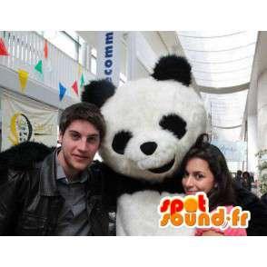 Panda Mascot classic black and white teddy - Evening Suit - MASFR00212 - maskot pandy