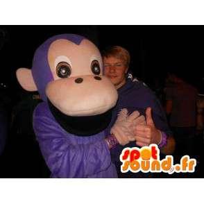 Klassische lila Maskottchen Affe - Affe Dschungel Tierkostüm - MASFR00305 - Maskottchen monkey