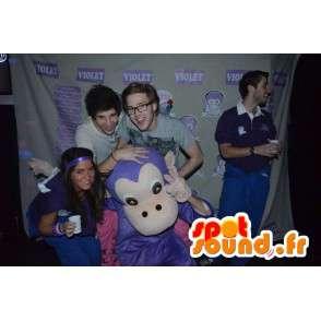 Mascotte singe violet classique - Costume animal de monkey jungle - MASFR00305 - Mascottes Singe