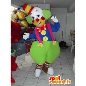 マスコット巨人ピエロ - サーカス変装 - お祝いのコスチューム