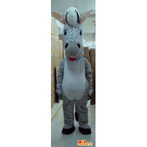 Zebra strisce mascotte - Animal Savannah - Costume tinta grigia - MASFR00615 - Gli animali della giungla