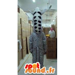 Μασκότ ριγέ Zebra - ζώων Savannah - γκρι κοστούμι απόχρωση - MASFR00615 - ζώα της ζούγκλας
