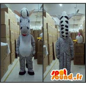 Zebra gestreiften Maskottchen - Tier Savannah - Kostüm grauen Farbton - MASFR00615 - Die Dschungel-Tiere