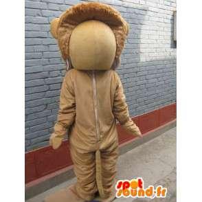 Λιοντάρι μασκότ - Feline σαβάνα στο κοστούμι - ζώων - MASFR00558 - Λιοντάρι μασκότ