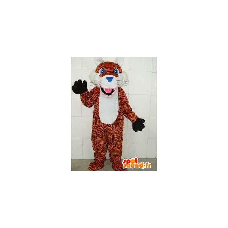 Rayas de tigre en Mascot - sabana depredadores felpa - MASFR00329 - Mascotas de tigre
