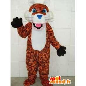 Listras de tigre Mascote - Savannah predador Plush - MASFR00329 - Tiger Mascotes