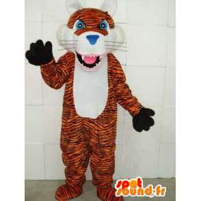 Mascotte tigre à rayures - Peluche de prédateur de la savane - MASFR00329 - Mascottes Tigre