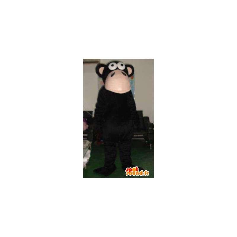 Mascotte singe macaque noir - Peluche et costume de primate - MASFR00326 - Mascottes Singe