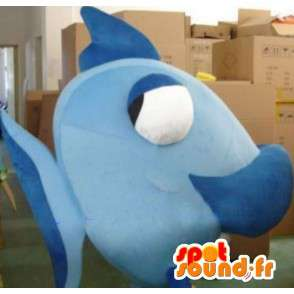 Mascot Blue Fish - quality fabric - Costume marine animal - MASFR00417 - Mascots fish