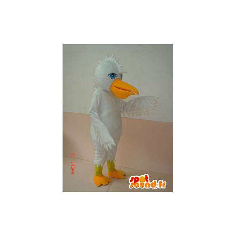White duck mascot and yellow crest - Costume Special Day - MASFR00622 - Ducks mascot