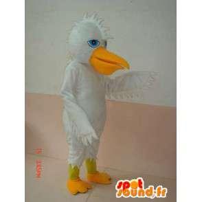 Weiße Ente Maskottchen und gelbe Wappen - Sonder Kostüm-Partei - MASFR00622 - Enten-Maskottchen
