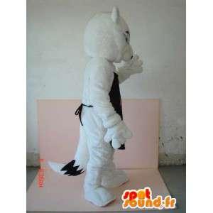 Wolf-Kostüm mit schwarze Schürze AF - Sehr individuell - MASFR00623 - Maskottchen-Wolf