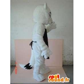 Costume Lupo con AF grembiule nero - Altamente personalizzabile - MASFR00623 - Mascotte lupo