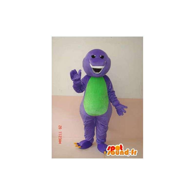 Mascota reptil sonriente púrpura y verde con los dientes - MASFR00626 - Serpiente mascota