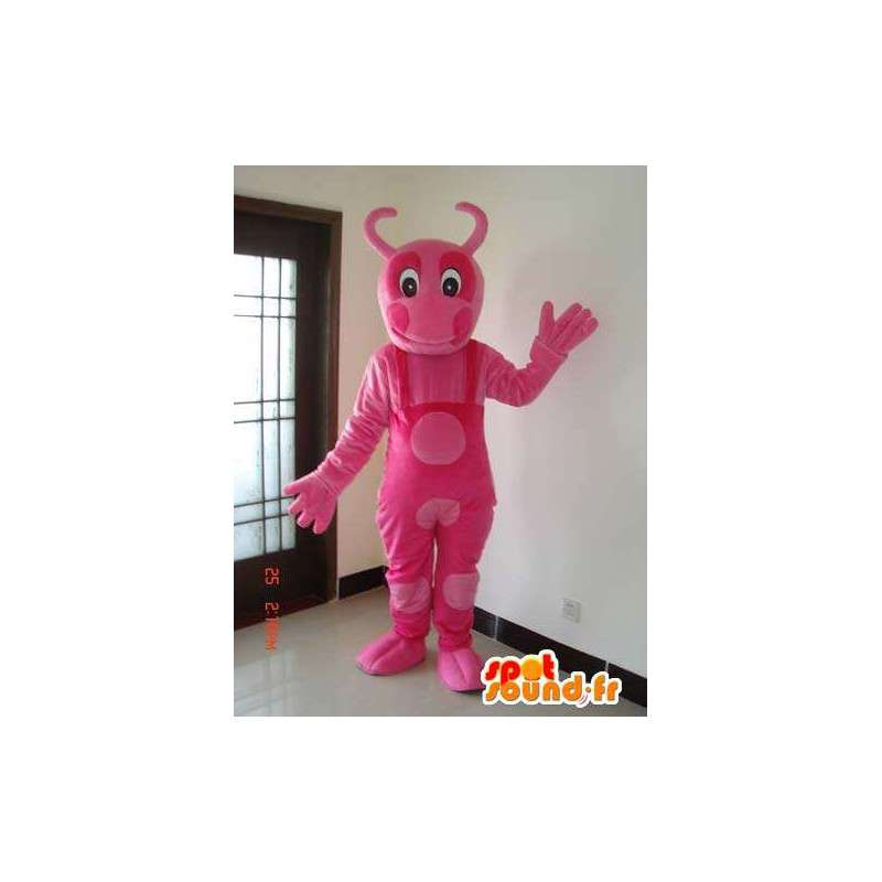 Ant mascot pink with all the pink polka dot dress - MASFR00629 - Mascots Ant