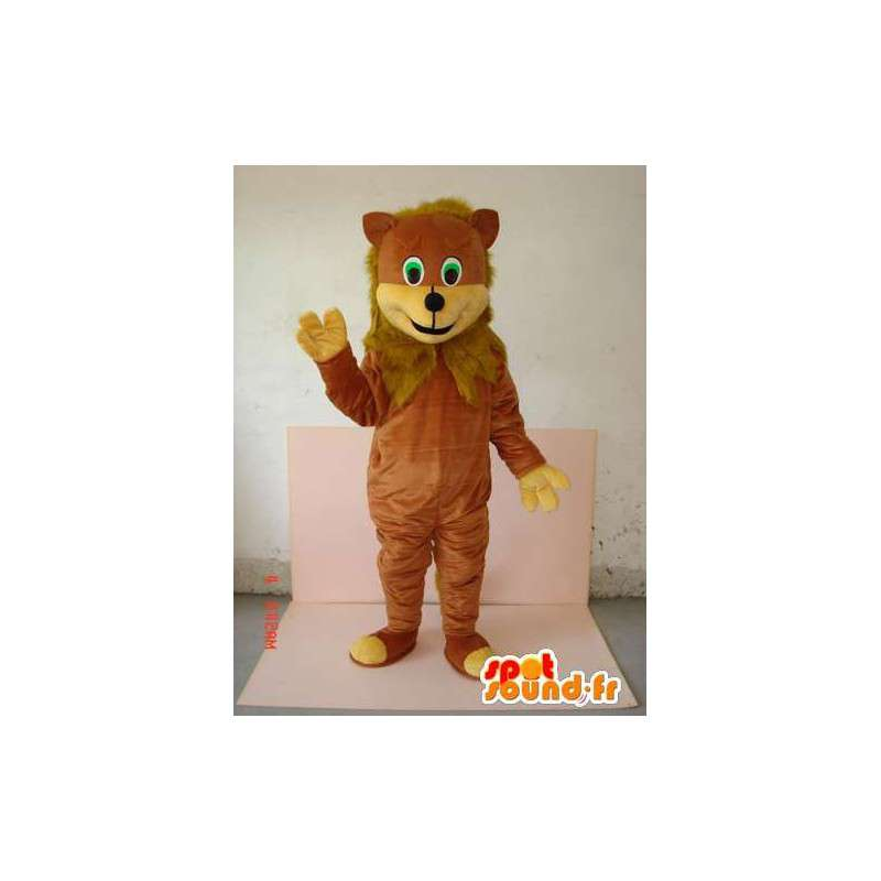 Mascotte lionceau avec fourrure marron - Animal de jungle - MASFR00630 - Mascottes Lion